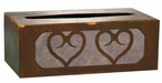 Heart Metal Flat Tissue Box Cover