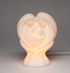Heart Shaped Holy Family Porcelain Night Light, Set of 2