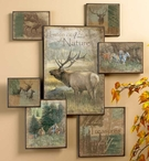 High Country Elk Wall Collage Wall Art