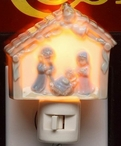 Holy Family Porcelain Night Lights, Set of 2
