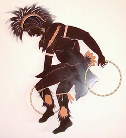 Hoop Dancer Metal Wall Art