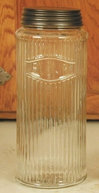 Hoosier Glass Flour Jar