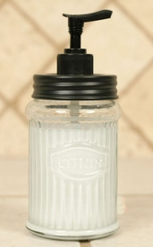 Hoosier Glass Lotion Dispenser