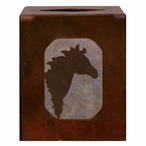 Horse Metal Boutique Tissue Box Cover