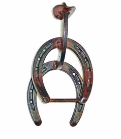 Horseshoe Cowboy Metal Hand Towel Holder
