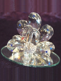 Italian Crystal Peacock Bird Figurine