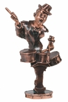 Jazz Drum Statue - Copper Finish