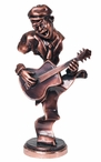 Jazz Guitar Statue - Copper Finish