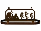 Kokopelli Desert Scene Hanging Metal Pot Rack