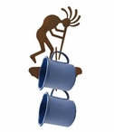 Kokopelli Metal Mug Holder Wall Rack
