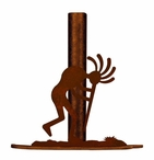 Kokopelli Metal Paper Towel Holder