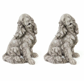 Lab Dog Sculpture, Set of 2