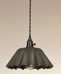 Large Crimped Pendant Lamp Light