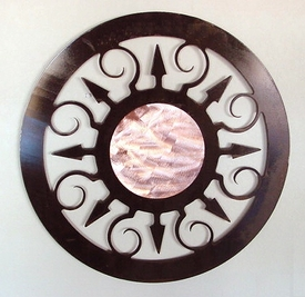 Large Fiesta Sun Metal Wall Art