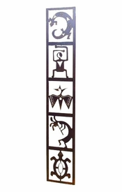 Large Petroglyph Totem Panel Wall Art