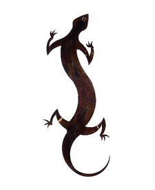 Large Gecko Metal Wall Art