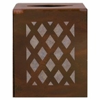 Lattice Metal Boutique Tissue Box Cover