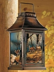 Leaving The Sanctuary Deer Scene Metal Candle Lantern