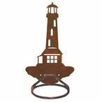 Lighthouse Metal Bath Towel Ring