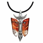 Limited Edition Red Mefisto Crystal Necklace By Mats Jonasson