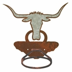 Burnished Longhorn Steer Metal Bath Towel Ring