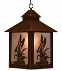 Loon Swimming in the Cattails Metal Lantern Pendant Light