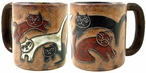 Mara Stoneware Round Mug 16oz - Kitties