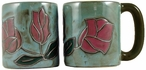 Mara Stoneware Round Mug 16oz - Red Rose