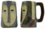 Mara Stoneware Sculpted Stein 15oz - Mask Heart