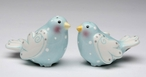 Marry Me Dove Birds Ceramic Salt and Pepper Shakers by Babs, Set of 4