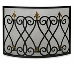 Mauresque Iron Fireplace Screen