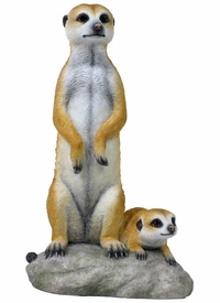Meerkat and Baby Meerkat Sculpture
