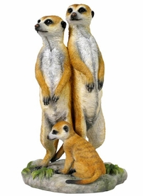 Meerkat Family of Three Sculpture