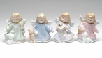 Mini Angel Porcelain Sculptures, Set of 4
