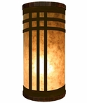 Mission Metal Cylinder Pillar Table Lamp