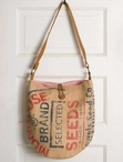 Mongoose Seeds Burlap and Canvas Tote Bag