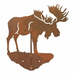Moose Double Metal Wall Hook