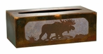 Moose Metal Flat Tissue Box Cover