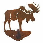 Moose Metal Robe Hook