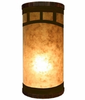 Mountain Mission Metal Cylinder Pillar Table Lamp