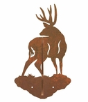 Mule Deer Double Metal Wall Hook