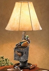Nesting Wood Ducks Table Lamp with Shade by Sam Nottleman