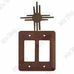 New Mexico Sun Double Rocker Metal Switch Plate Cover