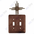 New Mexico Sun Double Toggle Metal Switch Plate Cover