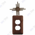 New Mexico Sun Single Metal Outlet Cover