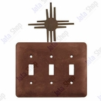 New Mexico Sun Triple Toggle Metal Switch Plate Cover