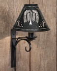 North Fork Metal Wall Lamp Sconces with Willow Tree Shades, Set of 2