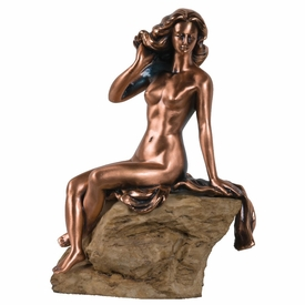Nude Beach Lady Statue - Copper Finish