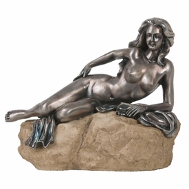 Nude Beach Lady Statue - Pewter Finish