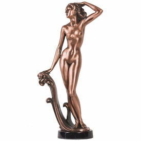 Nude Lady Statue - Copper Finish